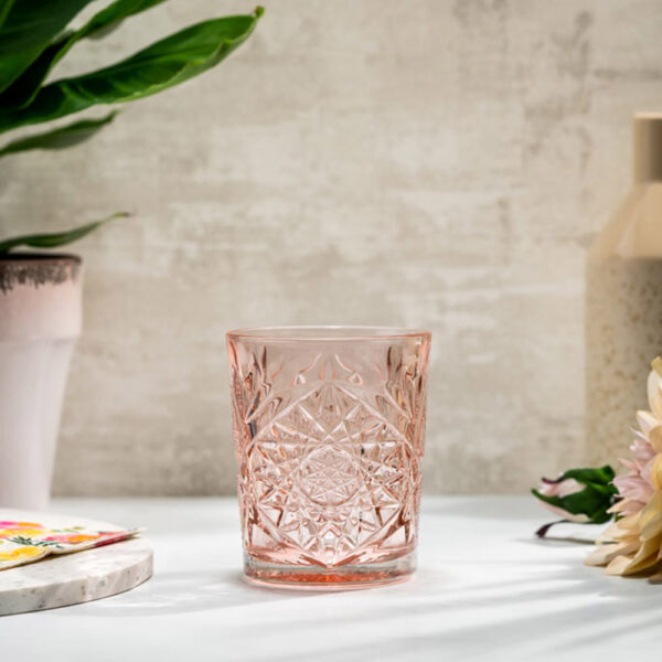 Libbey-Hobstar-old-fashioned-juomalasi-35cl-Coral-Pink