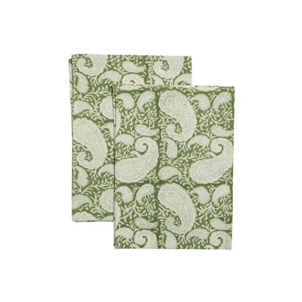 Skafferi Chamois Keittiöpyyhe-Paisley-green