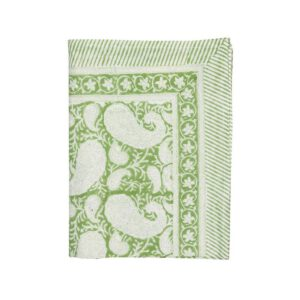 Safferi Paisley-Light-green-pöytäliina