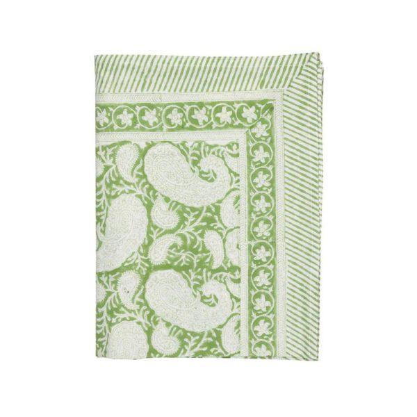 Safferi Paisley-Light-green-pöytäliina