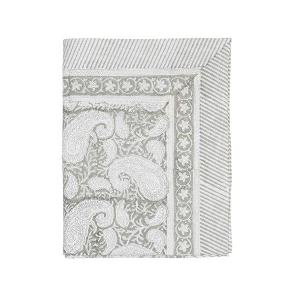 Skafferi Chamois Paisley-Light-grey-pöytäliina